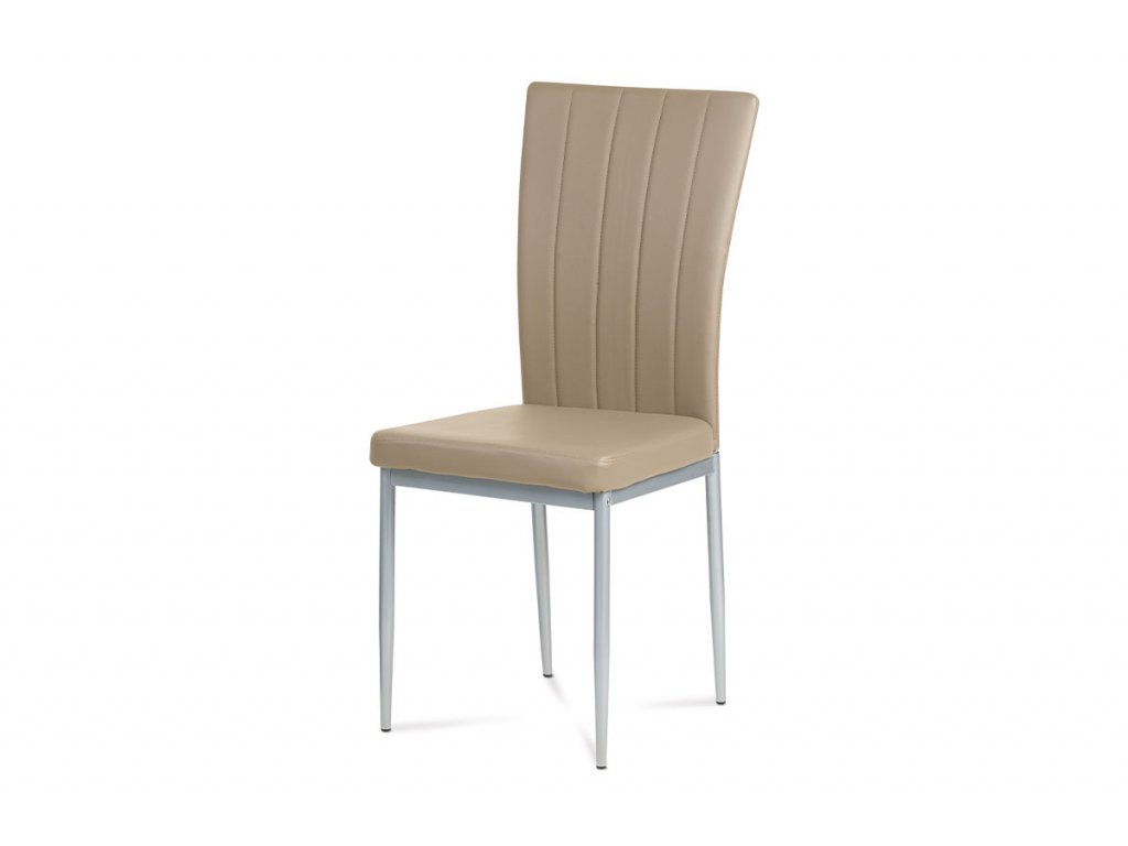 Jídelní židle cappuccino koženka / kov