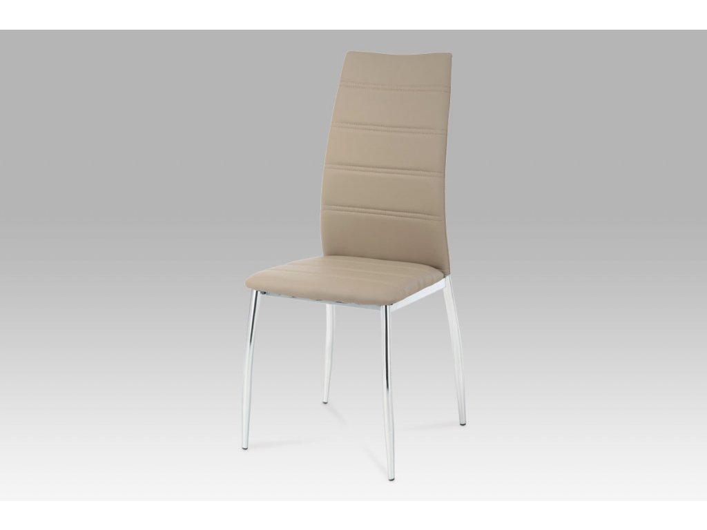 Jídelní židle cappuccino ekokůže/ chrom