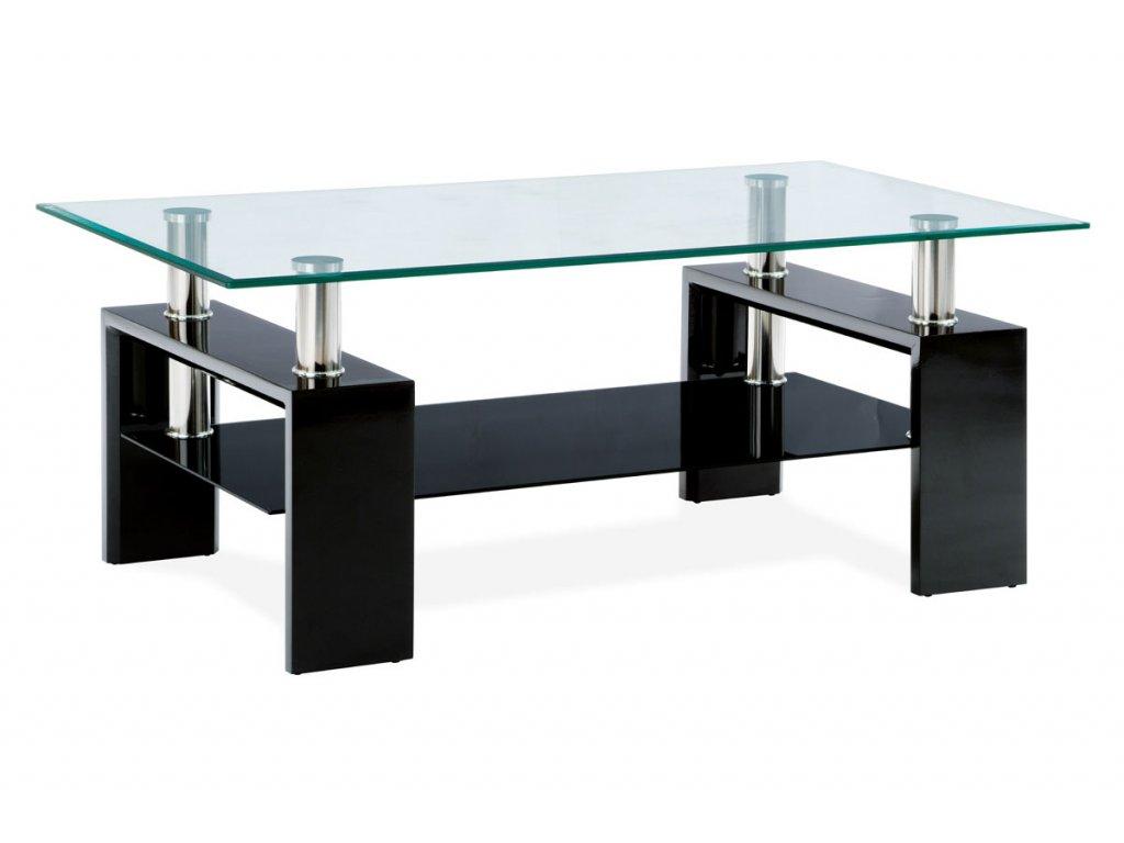 Konferenční stolek černý 110 x 60 x 45 cm