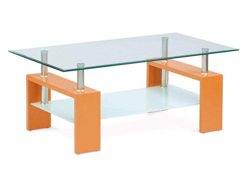 Konferenční stolek oranžová 110 x 60 x 45 cm