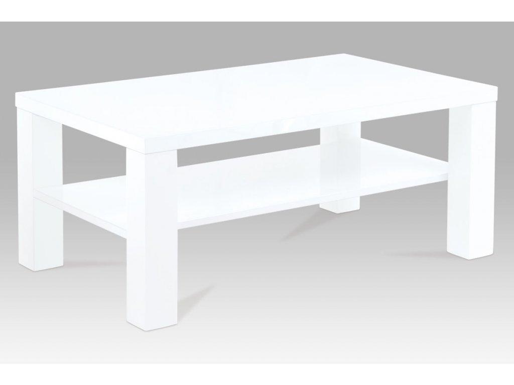 Konferenční stolek bílý 100 x 60 x 42 cm