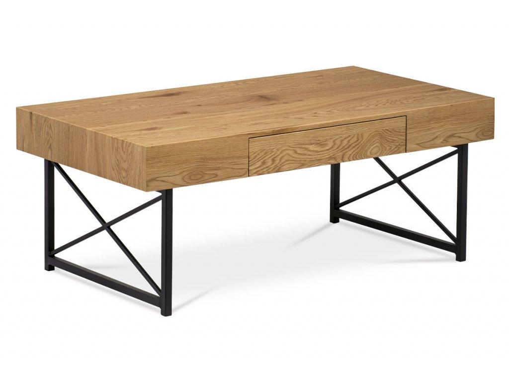 Konferenční stolek divoký dub / černý 110 x 60 cm