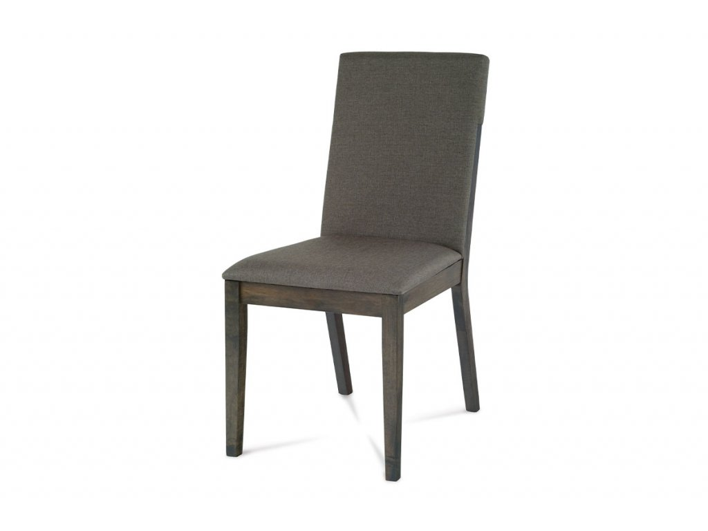 Jídelní židle dřevěná / látková šedý potah