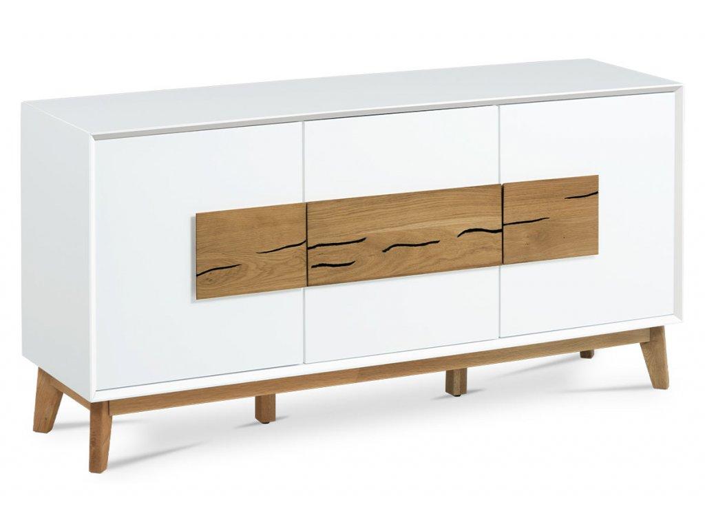 Komoda bílá / dub 150 x 75 cm