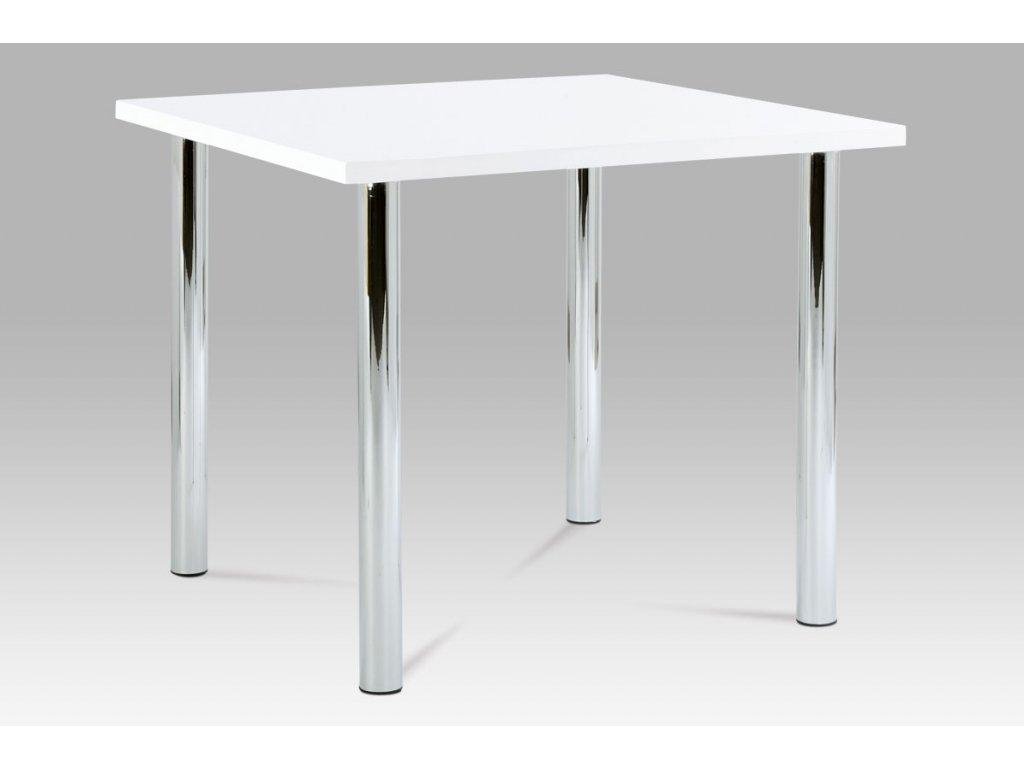 Jídelní stůl bílý / chrom 90 x 90 cm