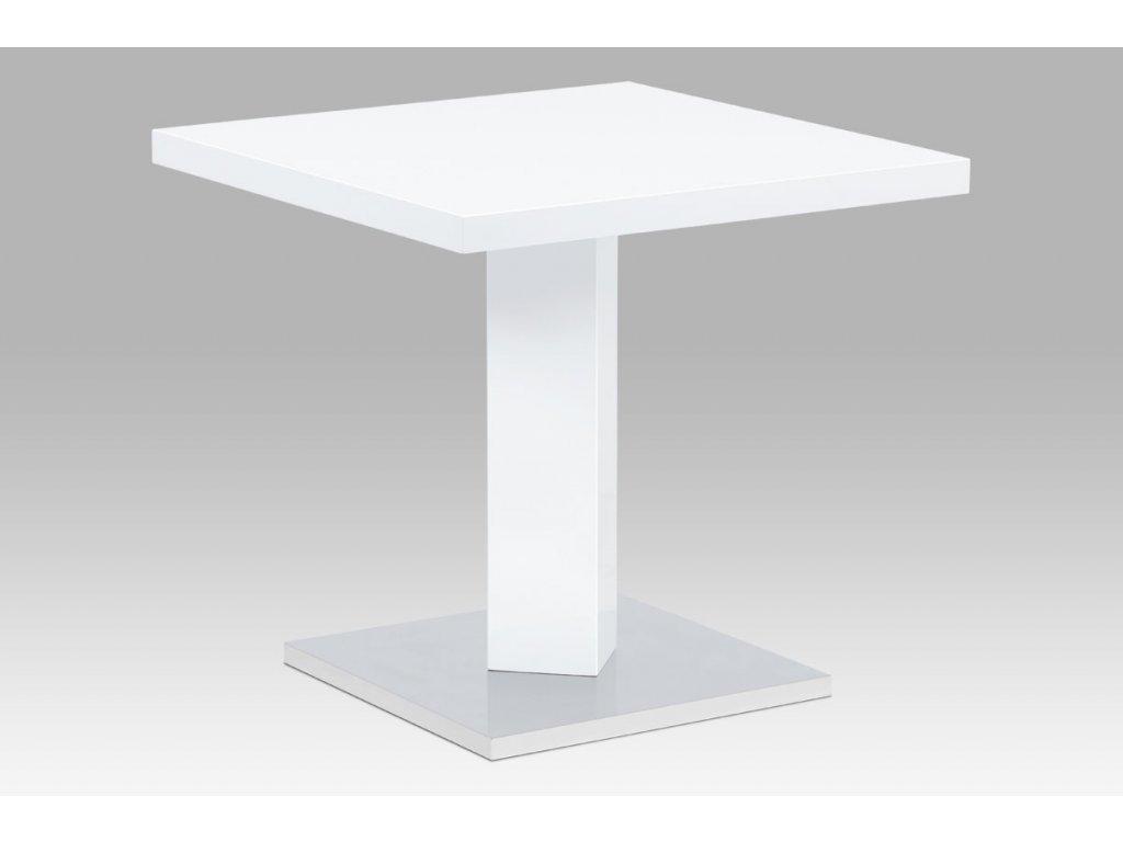 Jídelní stůl bílý / chrom 80 x 80 cm
