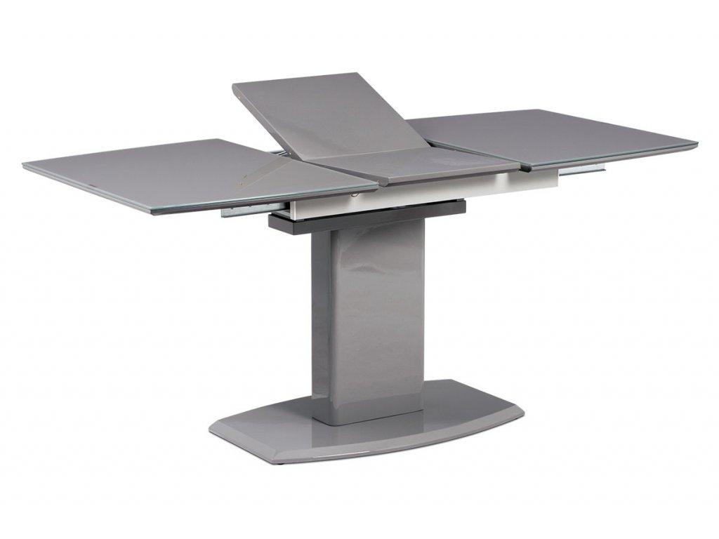 Jídelní stůl rozkládací šedý 120 - 160 x 80 cm