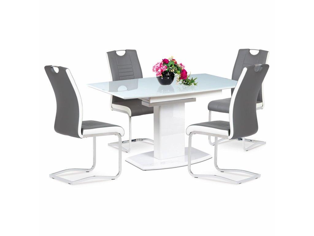 Jídelní stůl bílý 140 - 180 x 80 cm