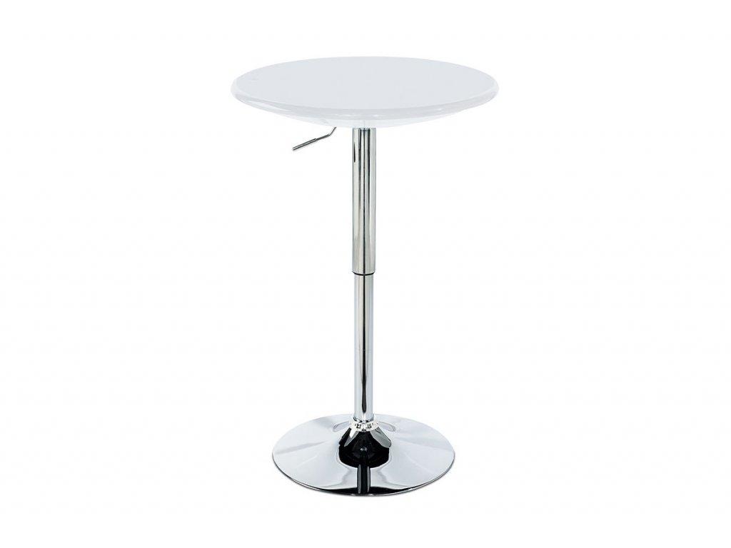 Barový stůl bílý 75 - 96 cm
