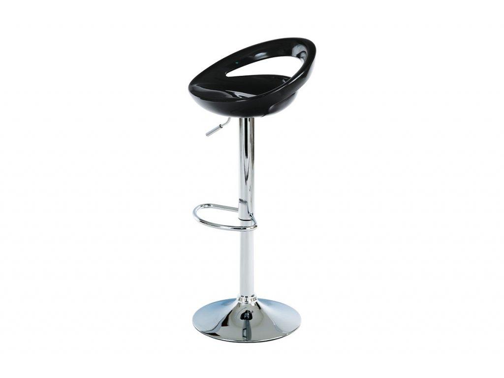 Barová židle černá 62 - 84 cm
