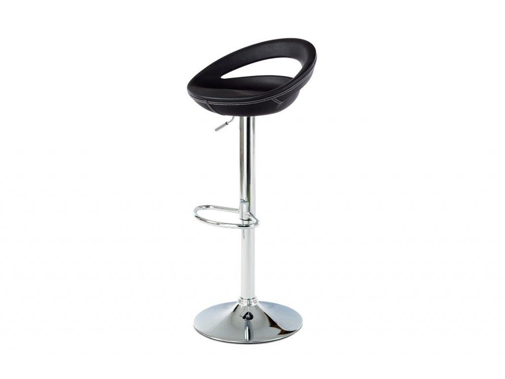 Barová židle černá 62-84 cm