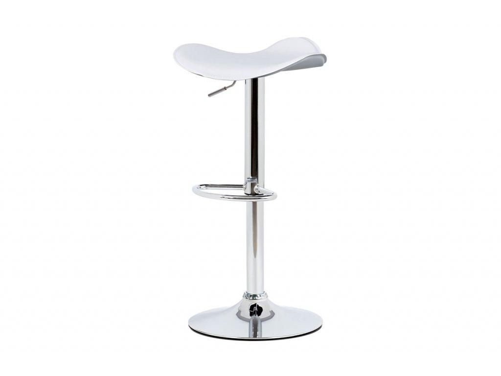 Barová židle z bílá 64 - 85 cm