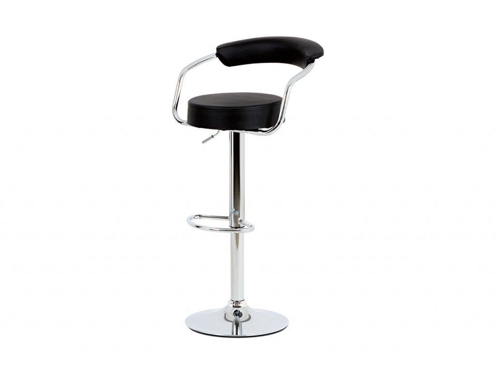 Barová židle černá 65 - 86 cm