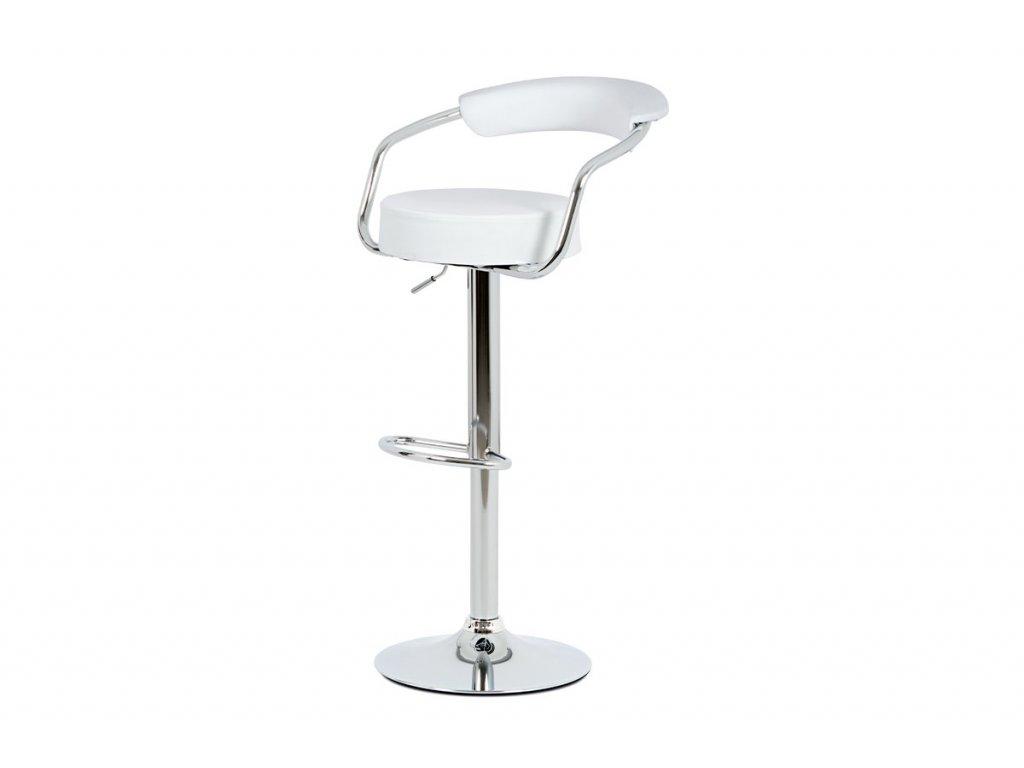 Barová židle bílá 65 - 86 cm