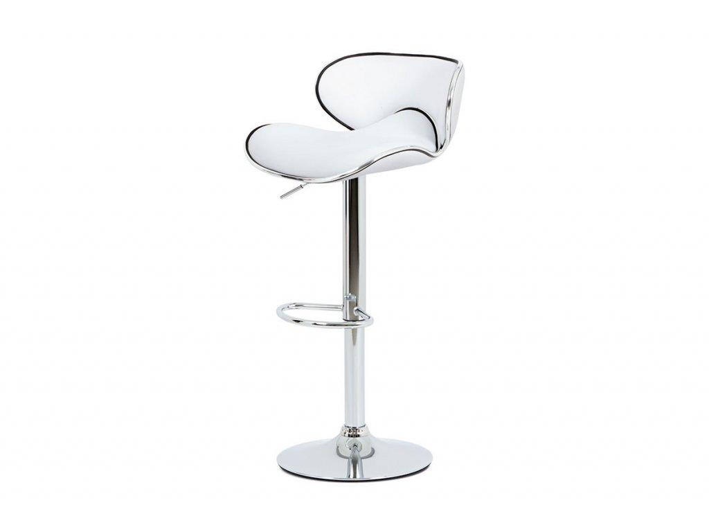 Barová židle bílá 62 - 83 cm