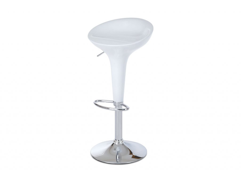Barová židle bílá 58 - 80 cm