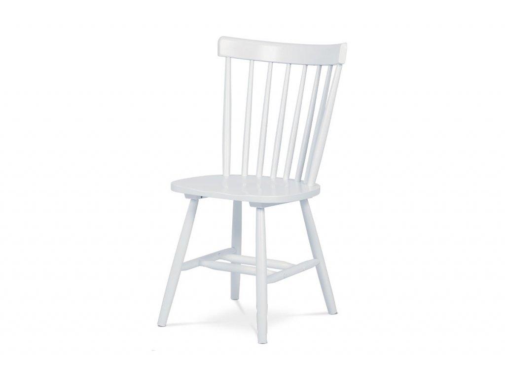 Jídelní židle bílá / dřevo