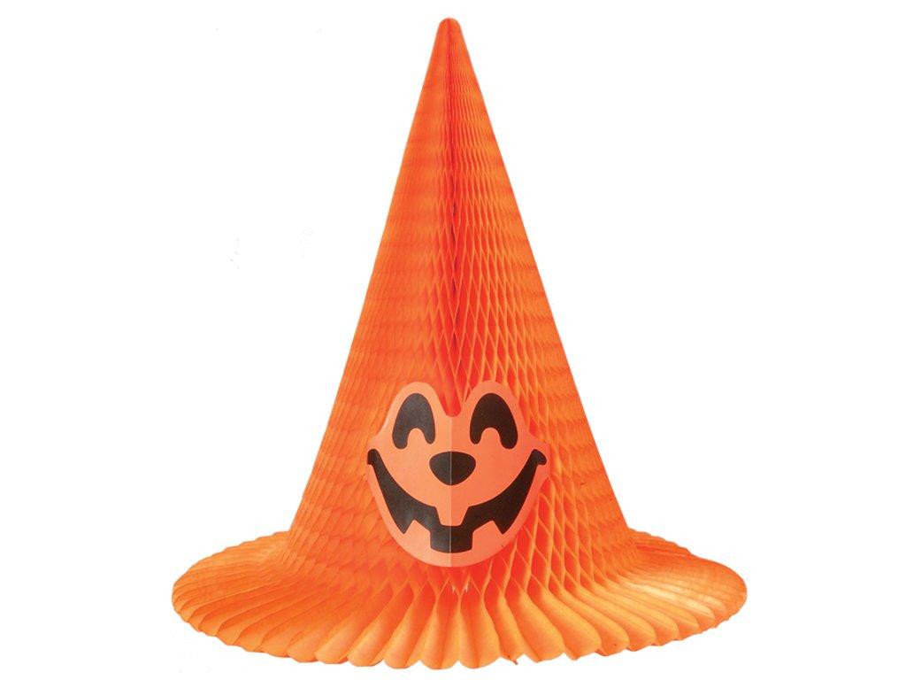 Klobouk papírový oranžový 40 cm