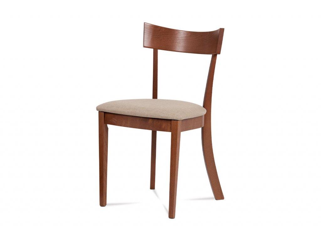 Jídelní židle třešeň / krémový potah