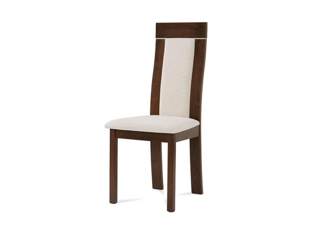 Jídelní židle ořech / béžový potah