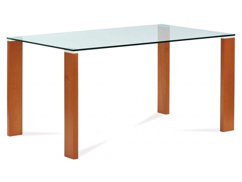 Jídelní stůl třešeň / sklo 150 x 90 cm