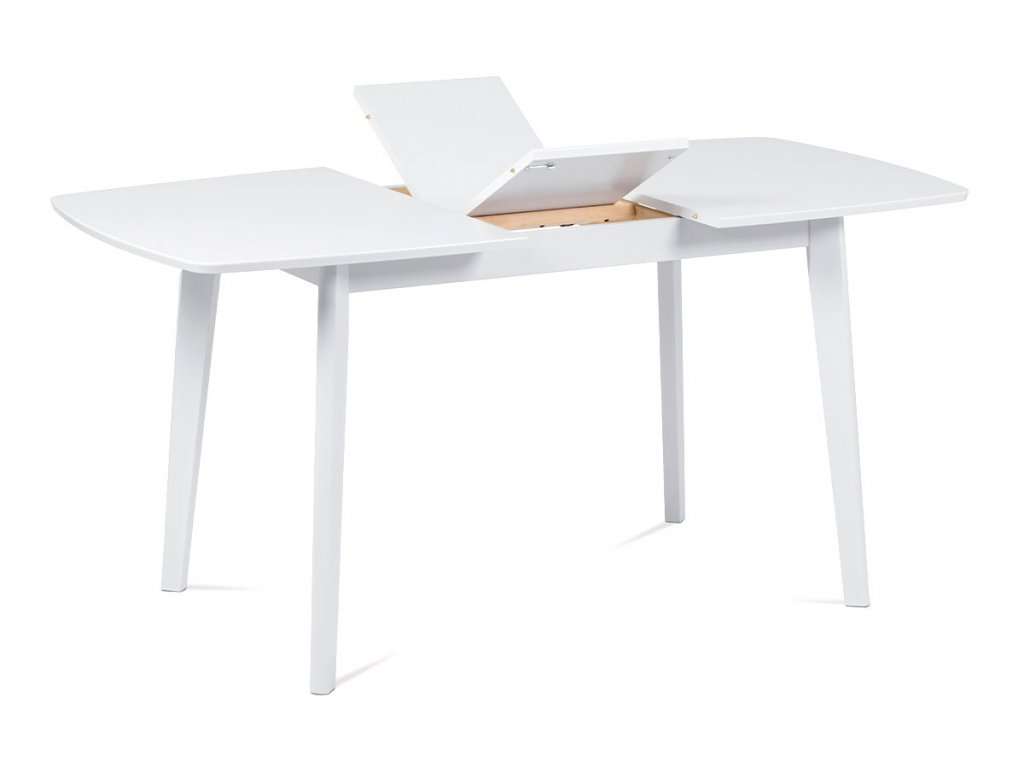 Jídelní stůl rozkládací bílý 120 - 150 x 80 cm