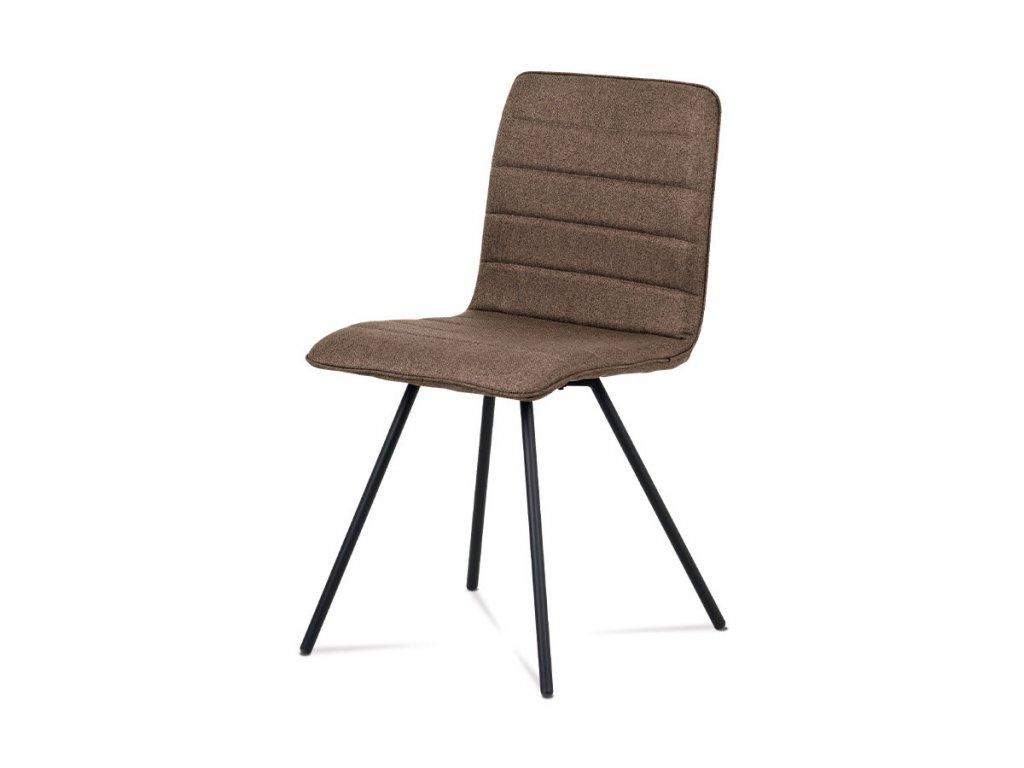 Jídelní židle hnědá látka / kov
