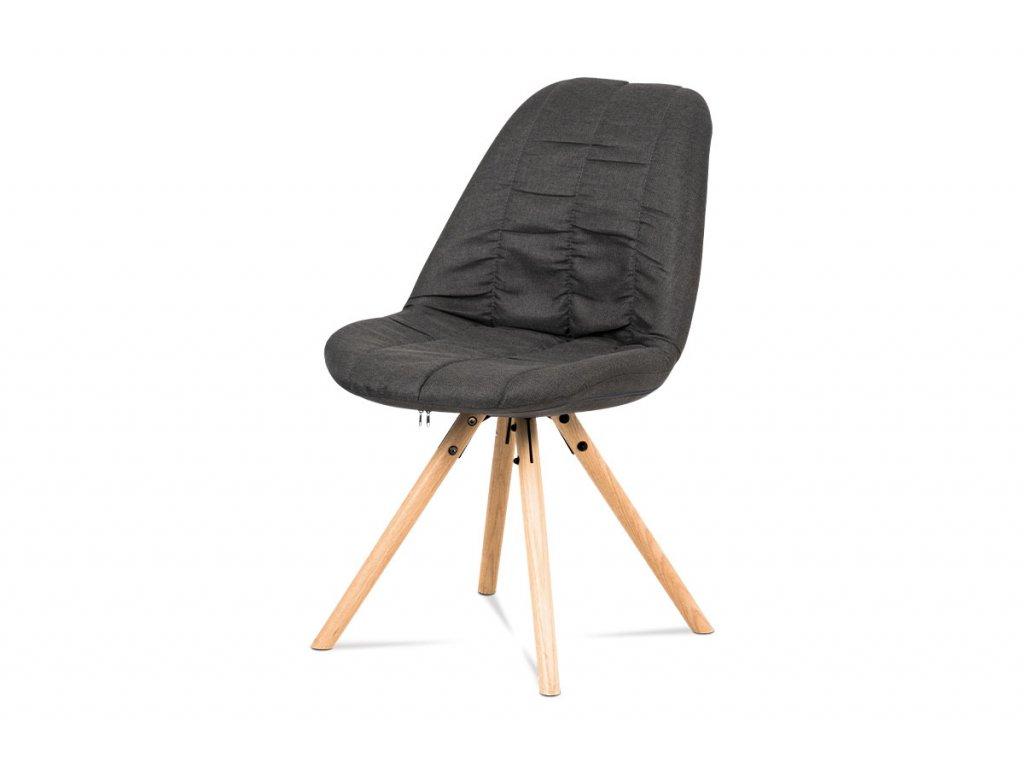 Jídelní židle v šedá látka / dub