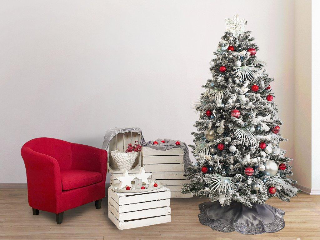 Vánoční stromek zasněžený stromek DELUXE Viola 180 cm