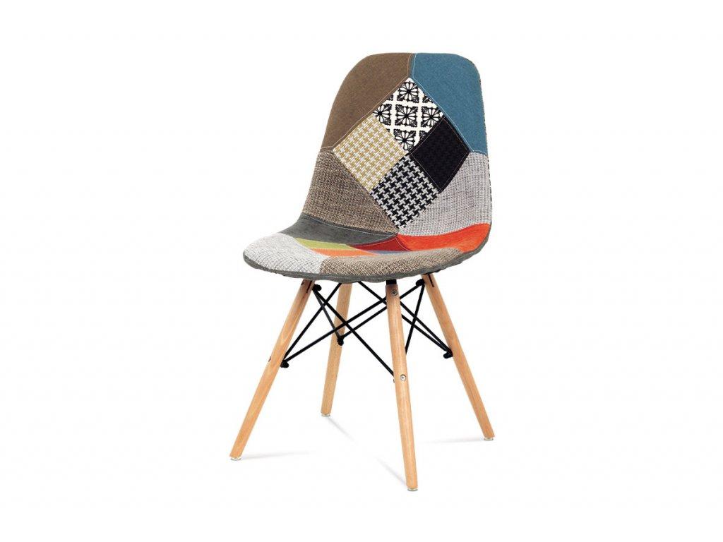 Jídelní židle barevná patchwork / buk