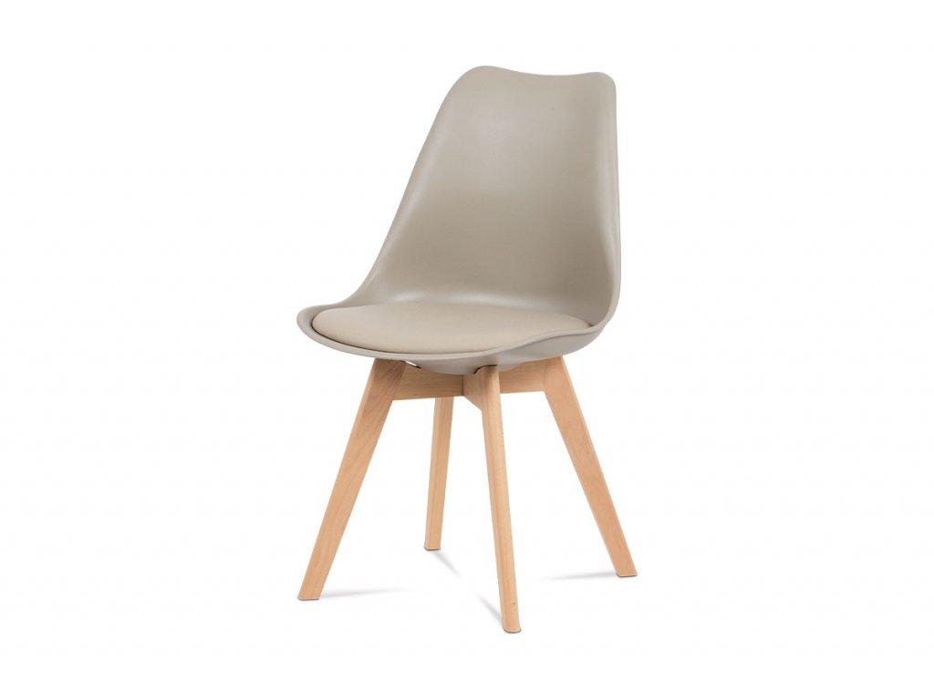 Jídelní židle latté koženka / buk