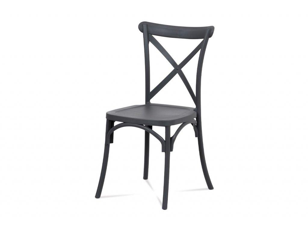 Jídelní židle šedá plastová