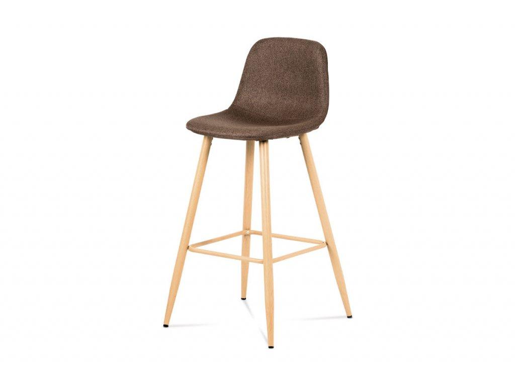 Barová židle hnědá 100 cm