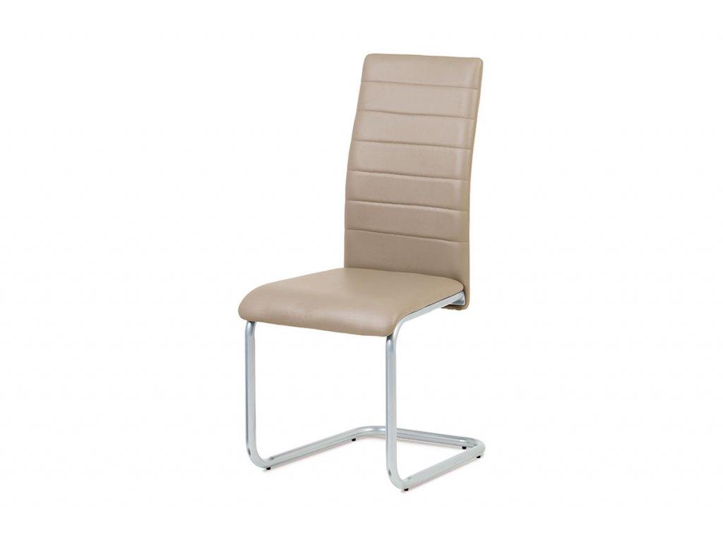 Jídelní židle béžová ekokůže / kov