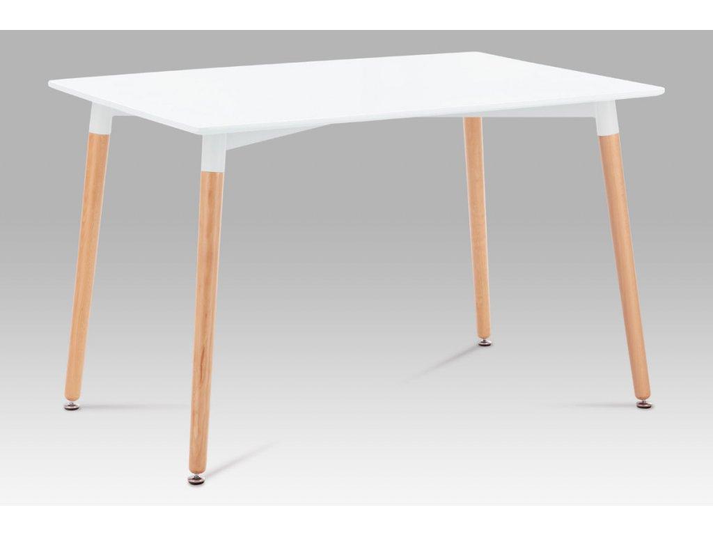 Jídelní stůl bílý / natural 120 x 80 cm