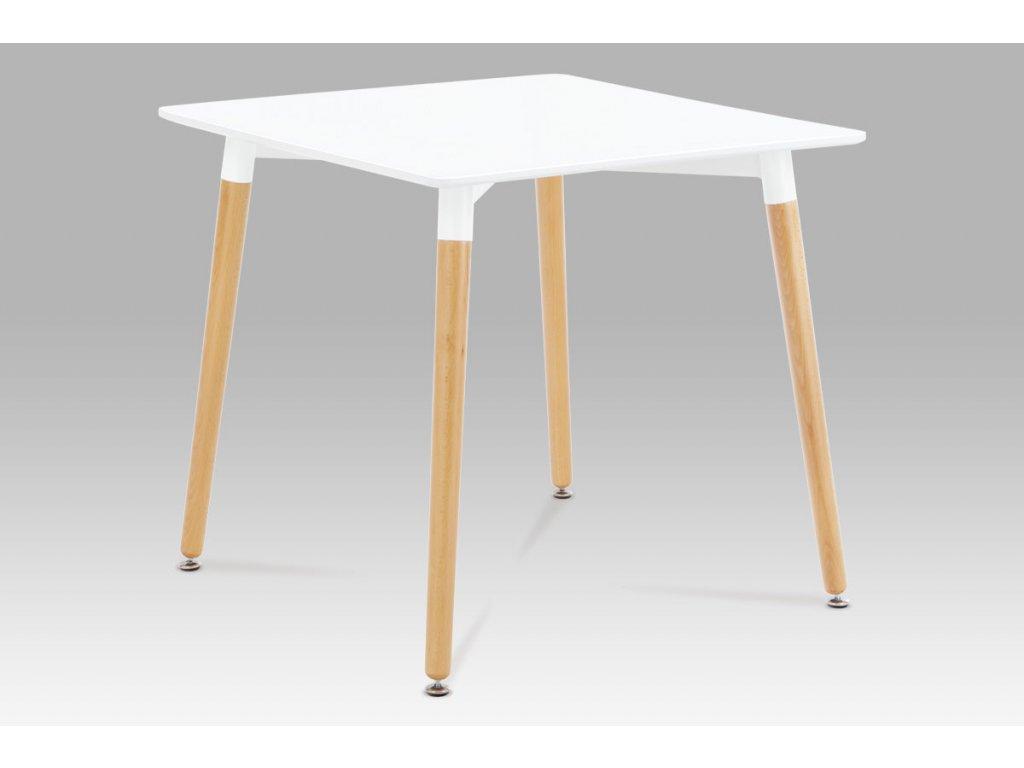 Jídelní stůl bílý / natural 80 x 80 cm