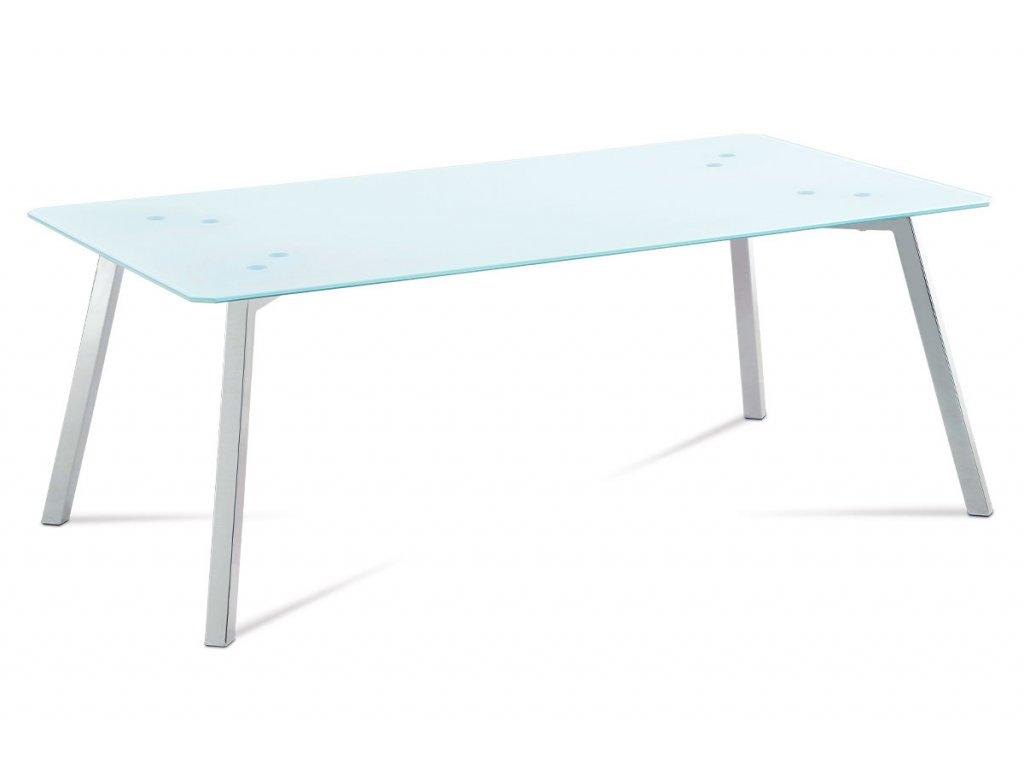 Konferenční stolek se sklem / chrom 120 x 65 x 45 cm