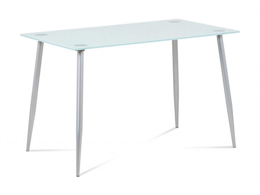 Jídelní stůl se sklem šedý 120 x 70 x 76 cm