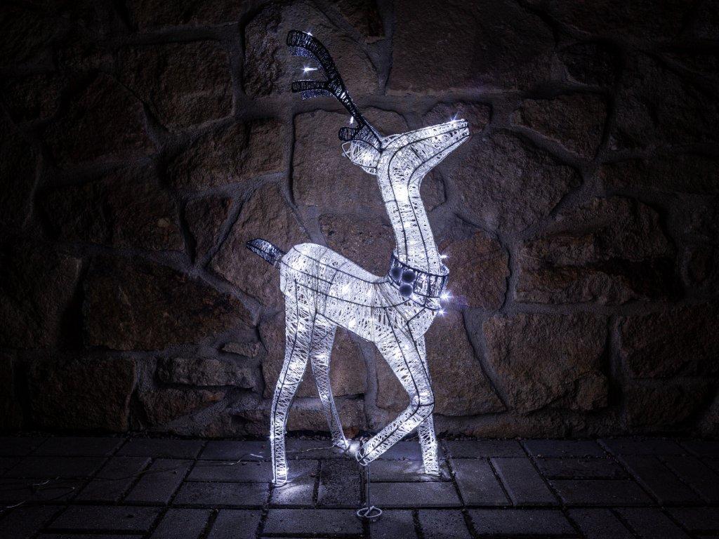 Světelná dekorace sob ratanový 76 cm