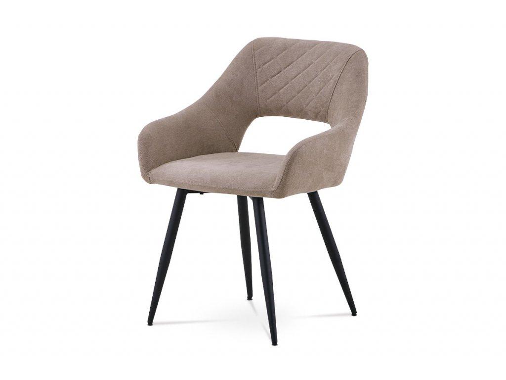 Jídelní židle latté látka / kov
