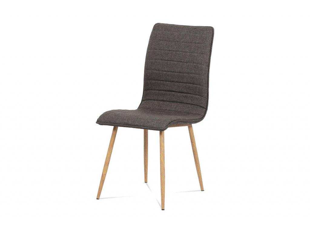 Jídelní židle coffee látka / dub
