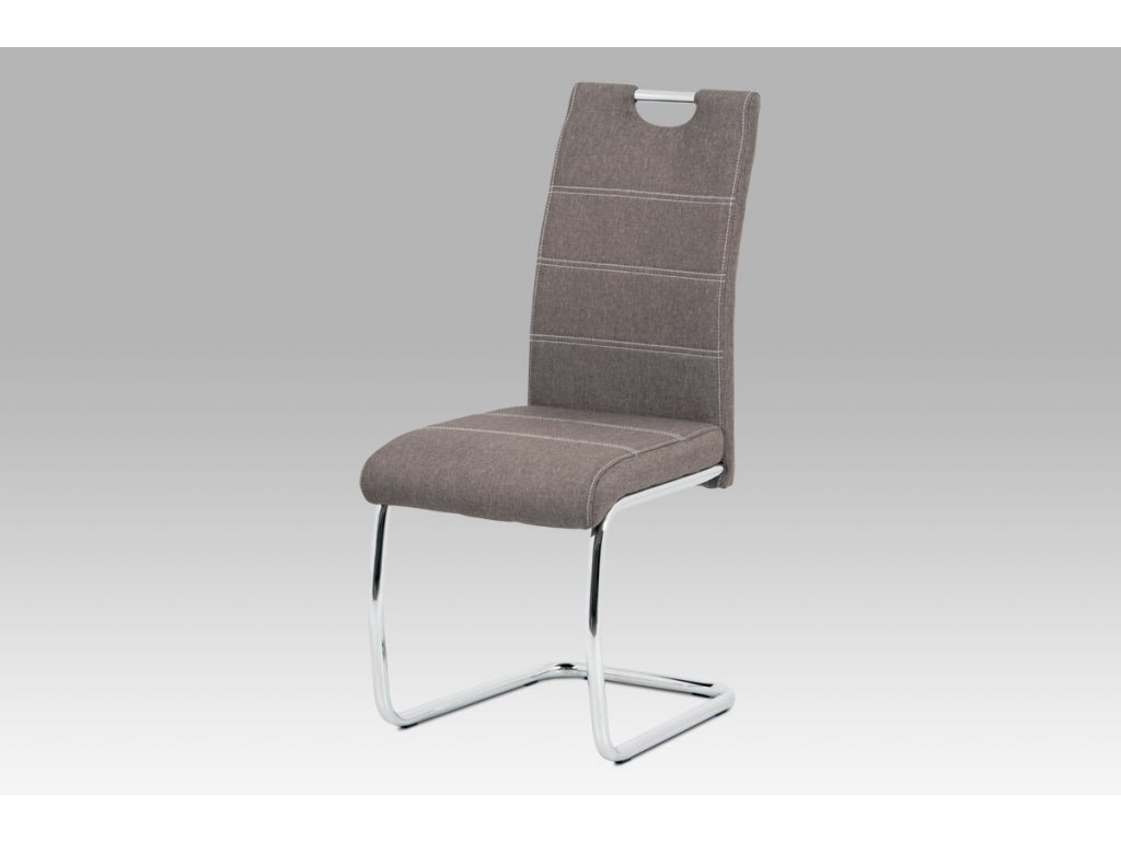Jídelní židle hnědá látka / chrom