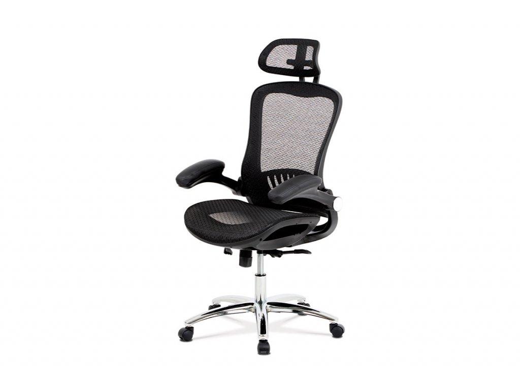 Kancelářská židle černá látka / kov