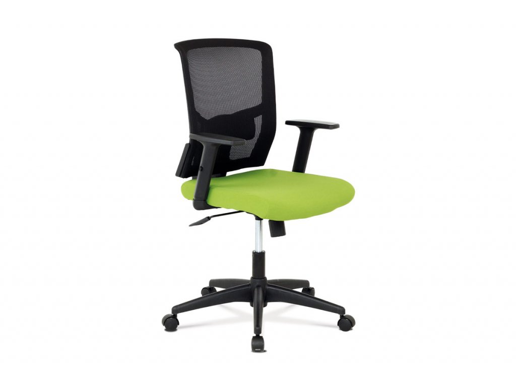 Kancelářská židle zelená látka / plast