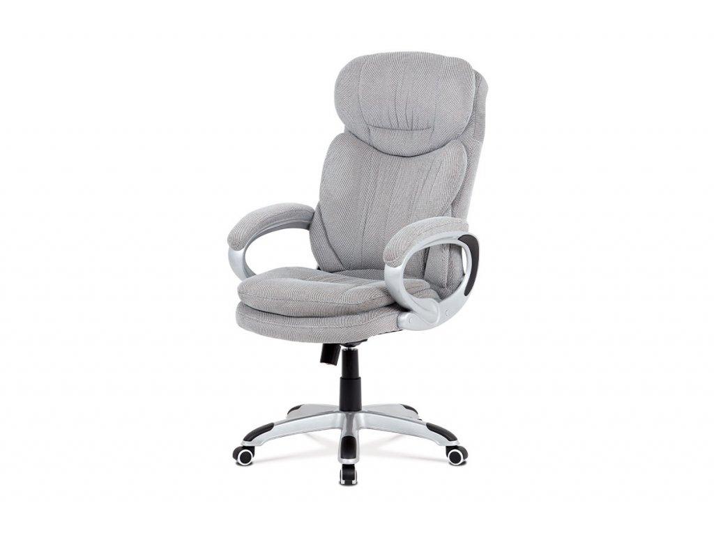 Kancelářská židle  šedá látka / plast