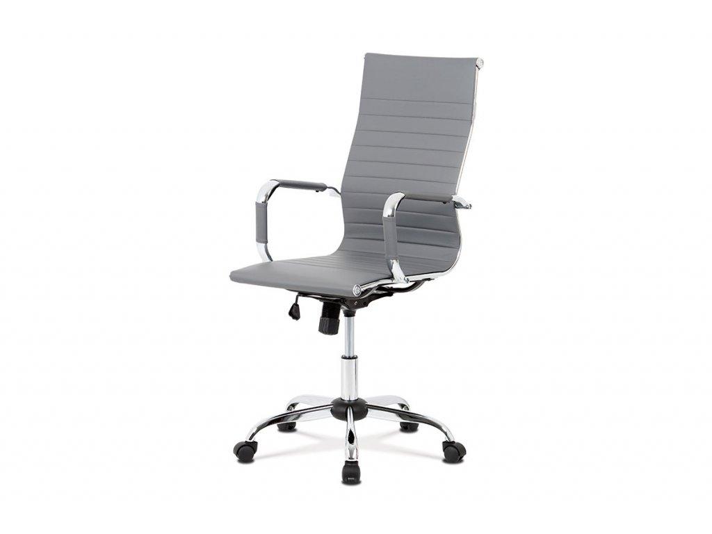 Kancelářská židle šedá ekokůže / chrom
