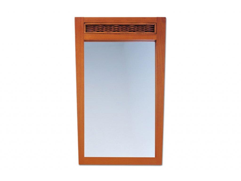 Zrcadlo třešeň/ ratan 92 x 56