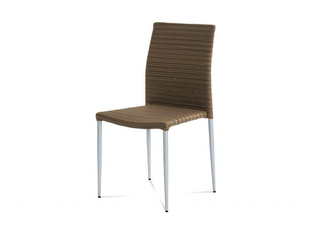 Zahradní židle umělý ratan / kov