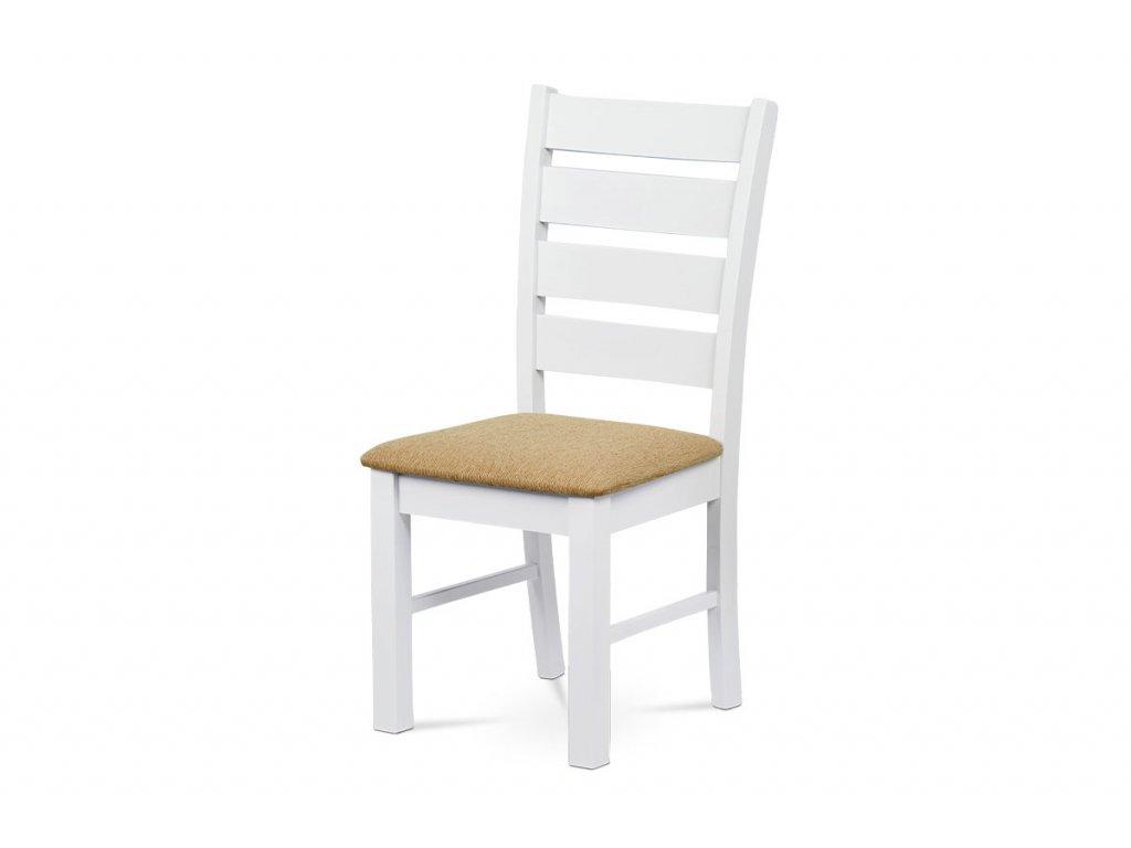 Jídelní židle bílá / pískový potah