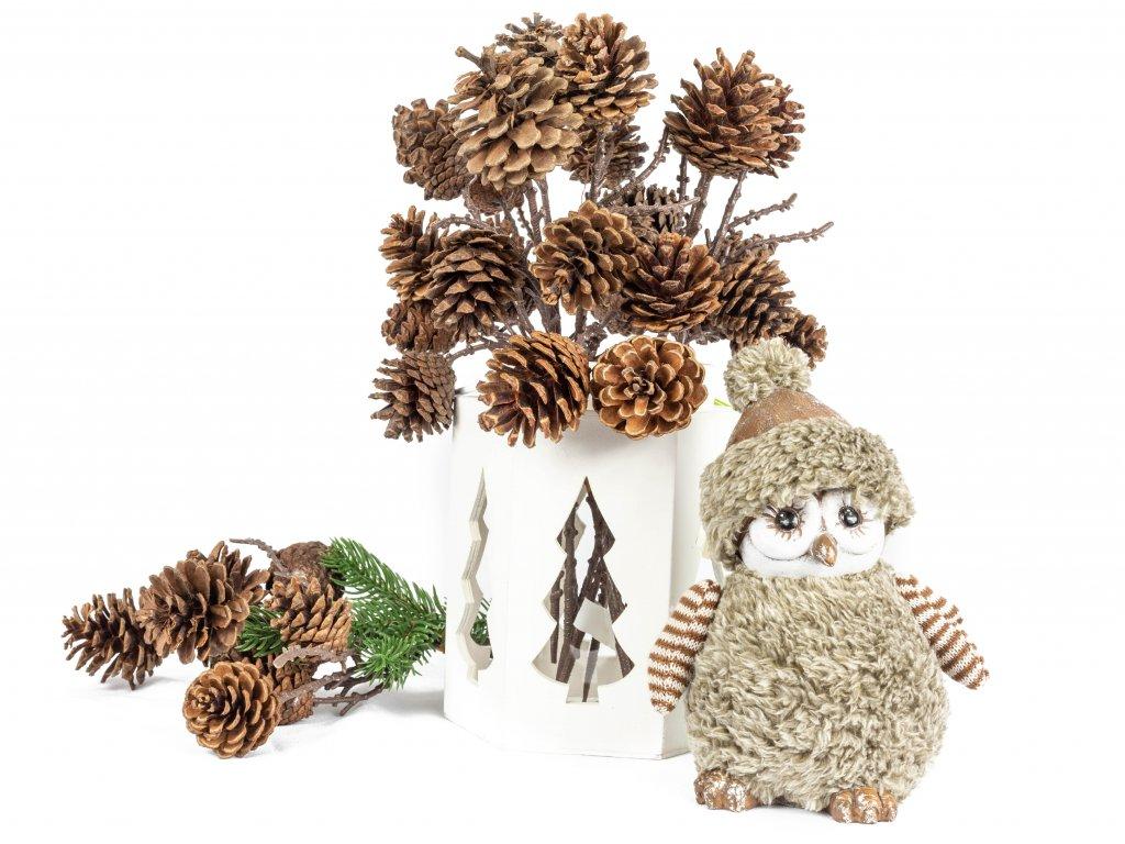 Sada dekorací: Lucerna s šiškami a sovičkou